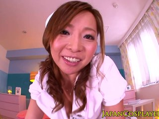 Cosplay nurse Kaori doggystyle fucked