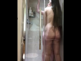 Hot shower tease with girlfriend