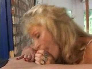 Big Tit Blonde Milf Blowjob, 'Pink Eye' Facial