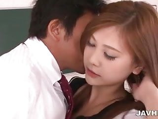 Wonderful schoolgirl Yura Kasumi has sweet time with her