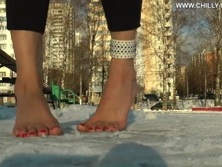 Chilly Feet in the park
