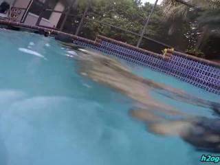 Girl Underwater in Tight Swimsuit