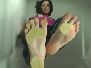 Sweaty long toes