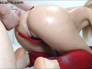 Blonde gets fucked hard on cam.