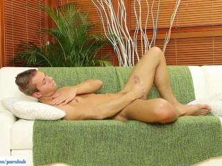 Shane Mason Jerks Off On Sofa