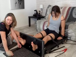 Veronique Tickles Lya's Insanely Ticklish Feet