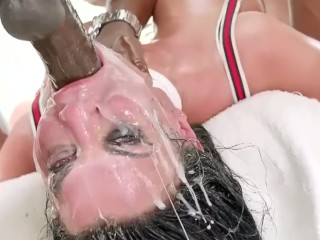 Fast Cut of Rough Sex and Face Fucking with Ahegao Remix