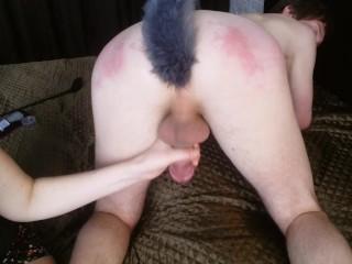 Femdom Spanking & Milking Cock – Mistress Domination