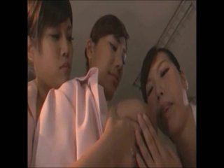 Japanese Lesbian Love Sucking Big Tits 5