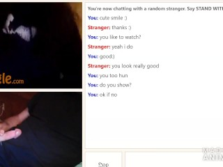 Omegle cute girl shows tits and pussy