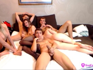 gangbang with russian on webcam
