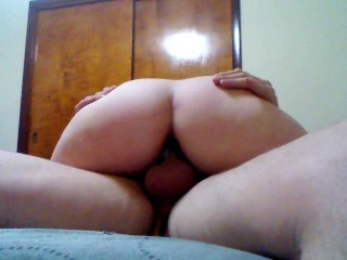 GF riding on and cumming on my cock