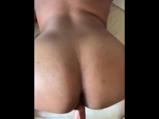 Daddy fucks my tight pussy before cumming on my ass