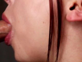 Intense Close-Up Hands Free Sloppy Blowjob – (Cum in Mouth, Hot, Sensual!)