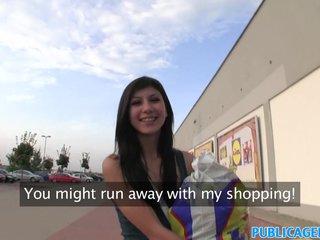 PublicAgent Babe fucks behind supermarket