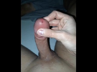 Teasing my tip until i cum, with a bit support of lube :3