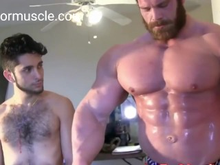worlwide huge biggest bodybuilder in hot muscle worship videos