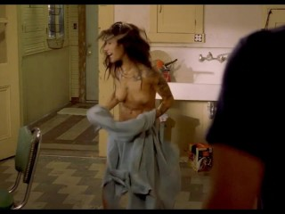 Sarah Shahi Nude Boobs And Butt In Bullet To The Head ScandalPlanet.Com