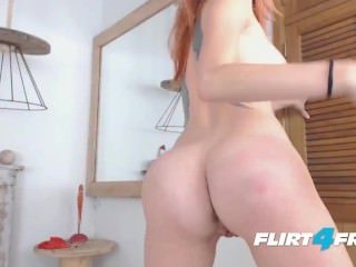 Hard Bodied Redhead Beauty Kisha Tida Fucks Her Dildo