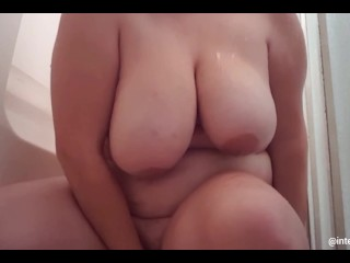 Fucking myself in the shower with my bbc dildo