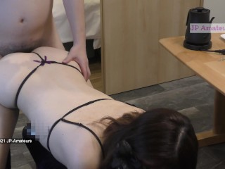 CUM SHOT My Horny Japanese Beautiful Nurse Amateur Model Enjoying Doggie Sex 4K Twitter