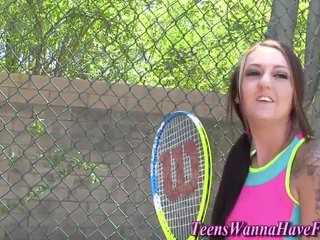 Teen rides tennis coach