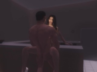 Sex on the counter – skyrim – serana