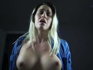 Busty Teen With Big Ass Has Moaning Orgasms And Cum On Tits
