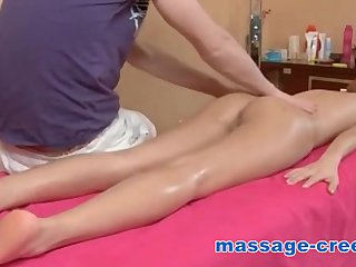 Massage ends with creampie