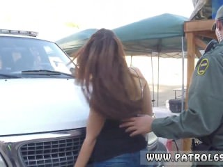 Female fake taxi police officer Brunette