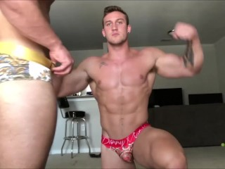 Sexy muscle duo showing off