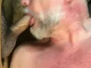 Sharing cock at the gloryhole