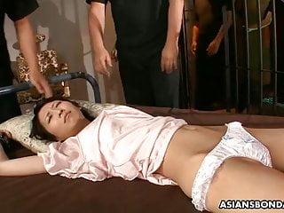 Skinny Asian babe likes rough bondage and various sex toys
