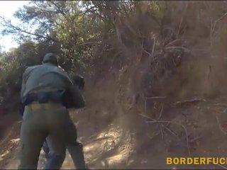 Mexican border patrol agent fucks biatch