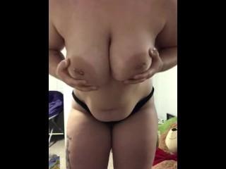 Chubby Girl Strip Tease (19-Year Old Amateur)