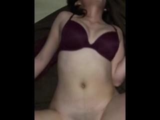 Barely 18 couple fucks petite babe slow with big cock