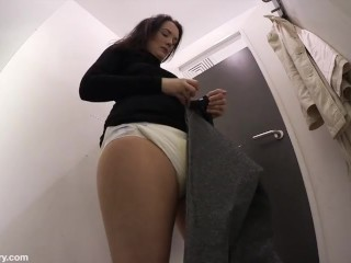diapered in changing room