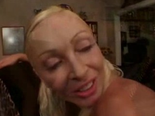 Blonde MILF ass fucked at home