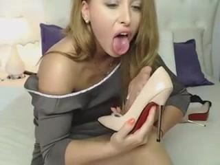 Pantyhose solo girl