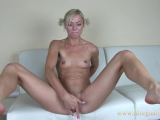Sexy Blonde Morgan Rain Pussy Squirting After School For Daddy Roleplay
