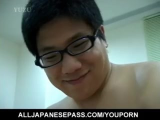 Sayuri Marui puts vibrator on hard penis before riding it well – More at hotajp.com