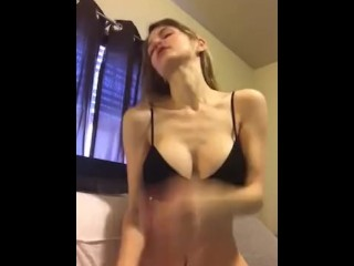 hot girl shows her perfect body