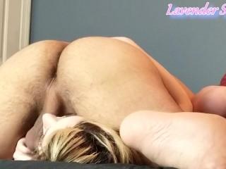 Sexy Blonde PAWG Teen Gets 69 Face Fuck Balls Deep with Cum in Throat Swallow (Deepthroat Throatpie)