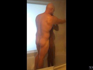Black Teen Ginger Man Interracial Shower