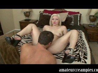 Jenna Ivory gets a big load of cum inside her