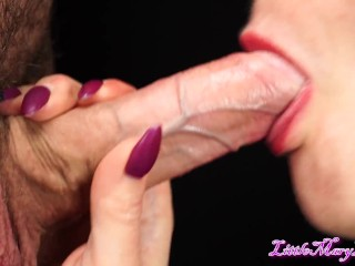 His BIG cock THROBBING in my sweet MOUTH. ORAL CREAMPIE. CLOSE-UP !!!!!