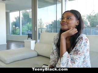 Teenyblack- Hot Ebony Teen First Porn