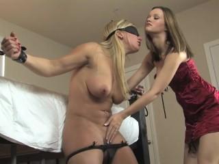 Intense lesbian bondage tease & orgasm 3