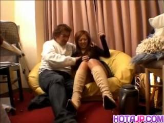 Intense sex play on cam with a hot ass Japane