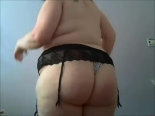 BBW trying on different panties.